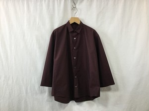 "semoh""3/4 sleeve wide shirt burgundy"""