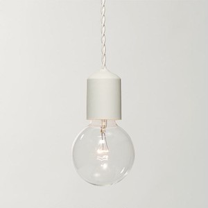 Socket Lamp Wh Matte|陶器 白マット