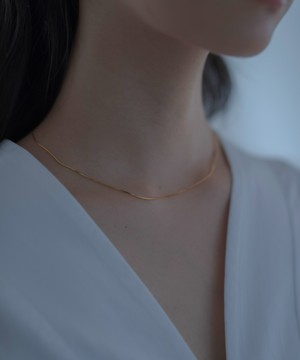 Thin Snake Chain Necklace[Silver925]