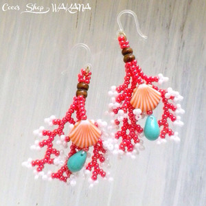 Coralreef motif Pierce -Red-
