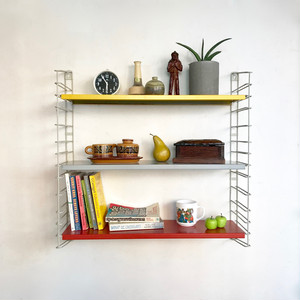 "Rare Model ""TOMADO"" Metal Wall Shelving Design by A. D. Dekker / Frame Gray Rare Model 1960's オランダ"