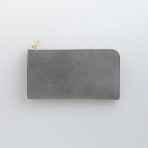 【受注製作】革の財布L グレー