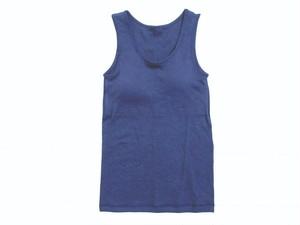 ◆100%自然素材 天然灰汁発酵建て 藍染◆ 高素材 カップ付き タンクトップ
