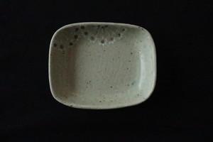 綿摘み陶房 ほんのり四角鉢(ピンク)
