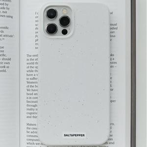 【t.e.a】 SALT & PEPPER (WARM GRAY) / iphone スマホ ケース カバー 韓国雑貨