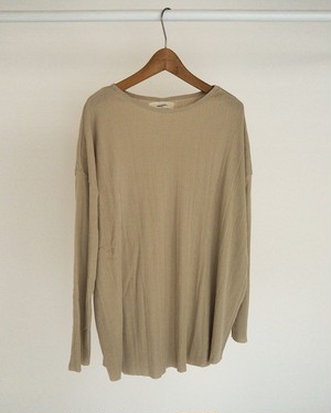 TODAYFUL トゥディフル Randomrib Over Long T-Shirts  12010621 ベージュ