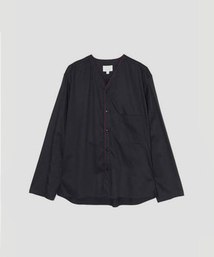 LEMAIRE and SUNSPEL V-Neck Shirt Midnight Blue M-193-SH147