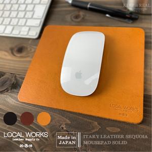 LOCAL WORKS 牛革 マウスパッド イタリアンレザー 日本製