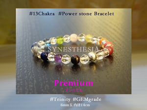 13Chakra Power stone Bracelet   プレミアム ~Premium~