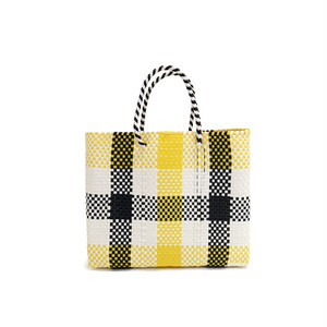 MERCADO BAG 3CHECK -  Yellow x White x Black(XS)