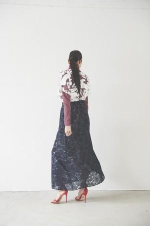 [紺色]オパールレースフラワースカート