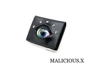 eye folding wallet / blue marble