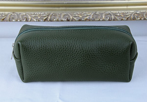 Cellerini by Tie Your Tie Leather Pouch -Green チェリーニ レザーポーチ