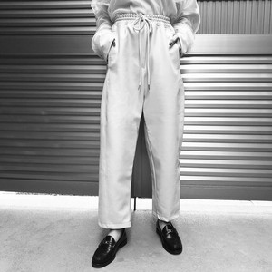 【WOMENS - 1 size】LEATHER WIDE PANTS / White
