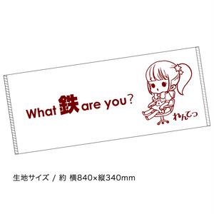 れんてつ「What 鉄 are you?」タオル