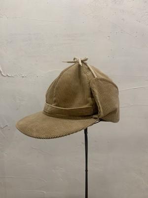 """""""FLEX-O-BAND""""beige corduroy flyer cap.(b126)"""