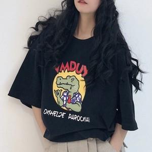 【トップス】アバンギャルドスタイリッシュ動物柄ヒップホップ半袖Tシャツ