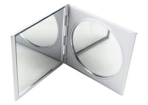 アルミ製 コンパクトミラー 拡大ミラー シルバー 四角 SA-P722