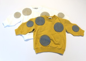 【19AW】フランキーグロウ ( franky grow ) UNEVEN BOA DOTS SWEATSHIRT / WHITE・ YELLOW [ S / M / L ]
