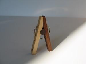 木のセンタクバザミ(小)mini wood clip