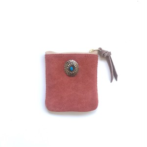 travel mini purse -salmon pink-