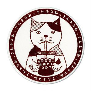 【コースター】ネコおっさん アイスコーヒー