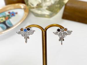 Petite écrin <silver / non-hole earrings>