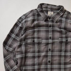 【Lサイズ】 J.CREW ジェイクルー FLANNEL CHECK SHIRTS 長袖シャツ BLACK L 400602190856