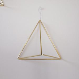 [手作りキット]壁掛けタイプ真鍮のヒンメリとチランジアのセット【△大サイズ】