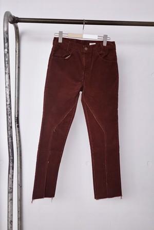 OLD PARK / SLIT PANTS ( CORDUROY  / XS -6 )