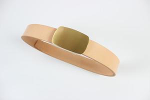 JAPAN LANSUI DESIGN 名入れ対応 ヌメ革手作り 真鍮バクッル 厚み3~4MM 経年変化ベルト 品番JNF9632787D45343