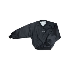 MANIAC LOGO / MADE IN USA NYLON PULL-OVER / BLACK