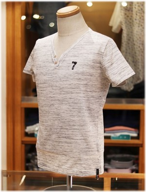 USUALIS collection           ウザリスコレクション  - Italy -     ヘンリーネック 半袖Tシャツ