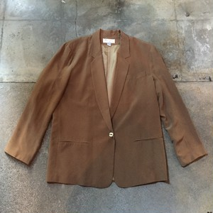 00s Silk Tailored Jacket