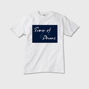 「Power of Dreams」筆文字Tシャツ(白)
