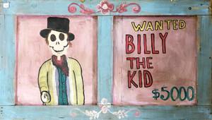 品番4080 がいこつアート WANTED BILLY THE KID ビリー・ザ・キッド