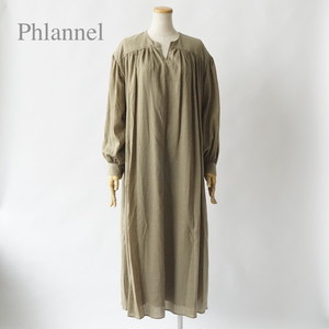 Phlannel/フランネル・Cotton Wool Viyella Smock Long Dress
