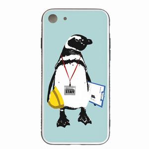 [強化ガラス仕上げ iPhone ケース]  STAFF Penguin