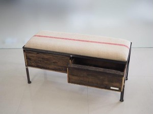 品番UES2-112  2drawer ottoman[nerrow/European grain sacks]