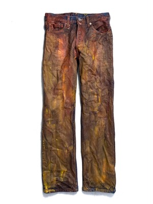 LEVI'S 501 PAINTED COATING JEANS