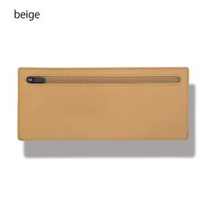 立てて使えるポーチ standing pouch 0921 beige