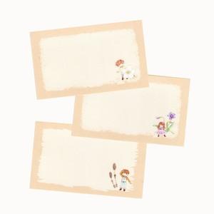 春イラストのメッセージカード(3絵柄×5枚セット)