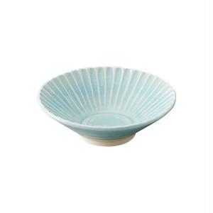 瀬戸焼 伍春窯 そぎ SOGI 反鉢 皿 3.6寸 約11cm スカイ ブルー 127-0404