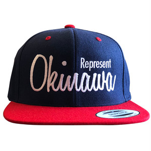 《限定カラー》REP OKI SNAPBACK CAP(NAVY×RED) / LIFEdsgn
