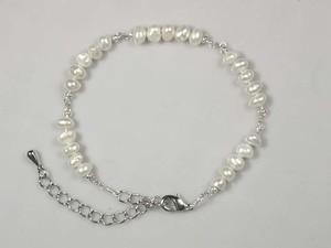 淡水真珠とカレンシルバーのブレスレット