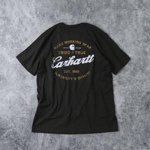 """新品 """" CARHARTT """" カーハート バックプリントTシャツ (MUD OLIVE) USA規格 新品"""