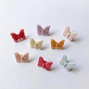 JJボタン ラメ蝶々ボタンパック