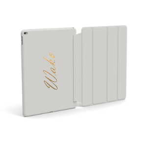 Custom Name iPad Premium Smooth Leather Case (Book Cover Type) (Limited/9月分数量限定)