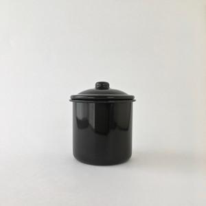 黒い琺瑯のシュガーボウル|Black Enamel Sugar Bowl