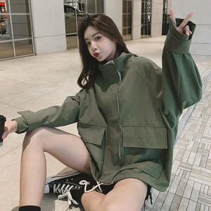 【アウター】新作合わせやすいルーズかっこいい韓国風学園風ジャケット23140768